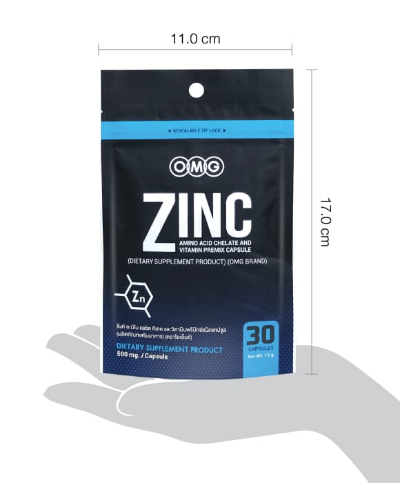 ขนาด zinc คือ