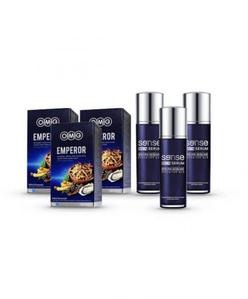 EMPEROR 3 กล่อง + Sense Men Serum 3 ขวด
